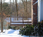 waist high drifts on the deck