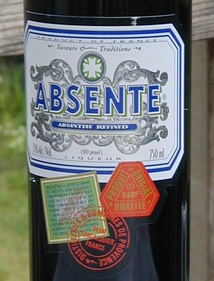 Absente Absinthe Refined label