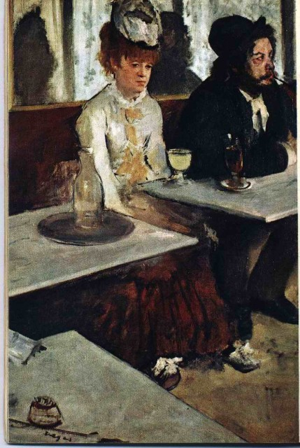 Edgar Degas In the Coffeehouse