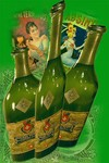 flattened absinthe bottles