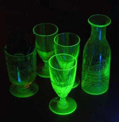 Uranium glassware