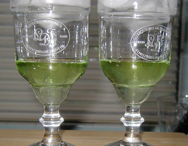 ice cold absinthe on a summer day