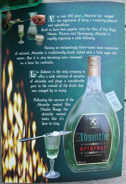 Absinthe Original blurbs