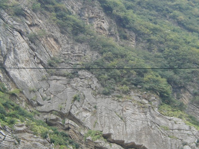 The rock looks like rippled wood