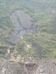 Mountain side rock erosion