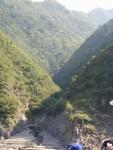 Gentle valleys rim the river