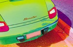 Boxster watercolor tail end