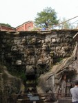 Waterfall near the head of the sleeping buddha known as Nine Dragons Bathing the Prince