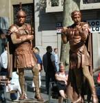 Las Ramblas street performers