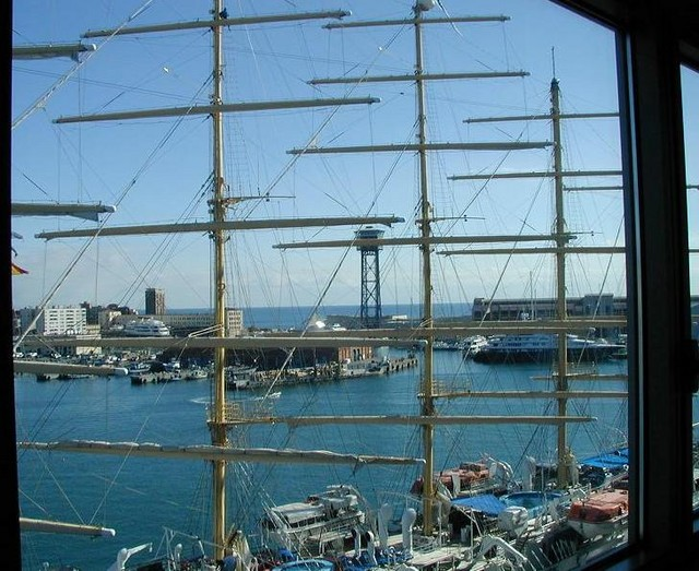 Tall ship out room window WTC