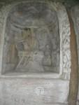 Inset statue