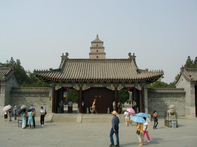 Approaching Big Wild Goose Pagoda