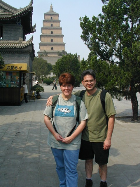 Ren & Joe in front of Big Wild Goose Pagoda