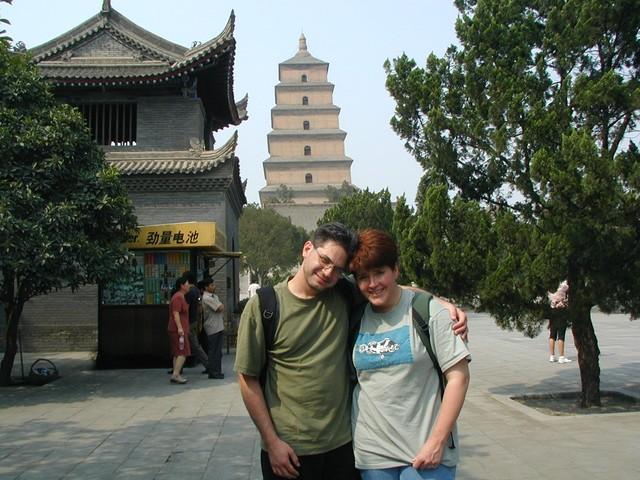 Joe & Ren in front of Big Wild Goose Pagoda