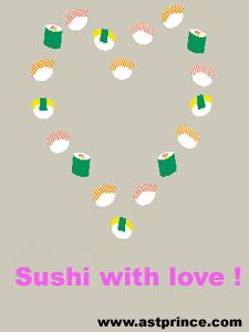 love sushi heart