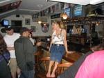 Cheryl on the bar