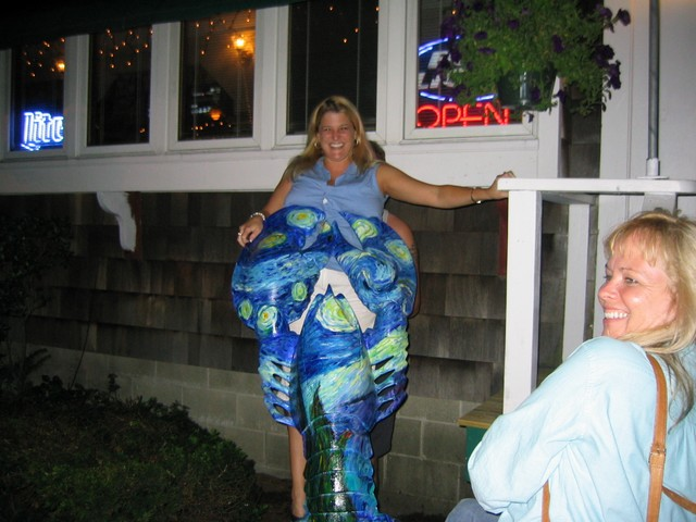 the blue lobster clutches pam