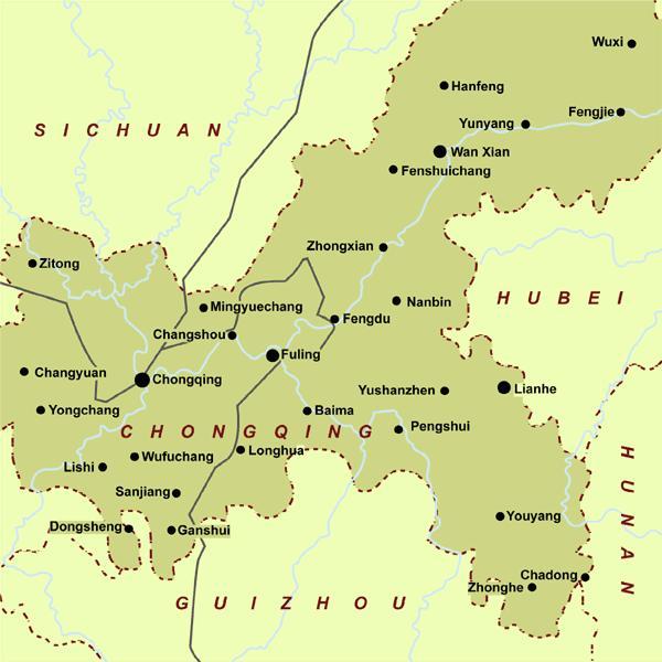 Chongqing map