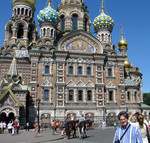 Joe in front of Church on Spilled Blood