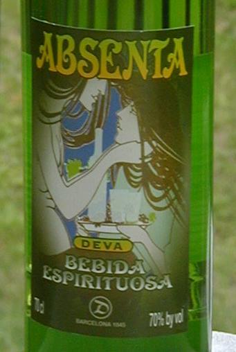 Absenta Deva label