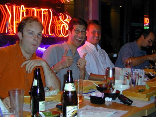randy whitney, jay adelson & shep kendall at matsutake