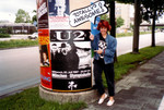 20-Jun-87 - Ren pointing at the U2 tour in Munich