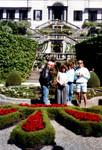 27-Jun-87 - Dean - Suzy - Silvia - Bryan at gardens near Lake Como