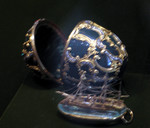 Azova - 1891 - ruby clasp on jasper - inside on aqamarine is gold replica Pamiat Azova