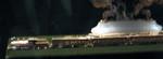 Trans-Siberian train replica - left - headlights of diamonds