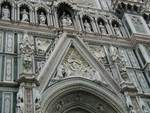 Duomo details above the door