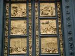 Gates of Paradise panels close-up