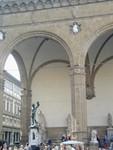 Statuary near Uffizi plaza