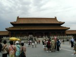 The Imperial Palace is a treasure house of one million precious historical relics from the Shang Dynasty (C.1600-771B.C.) through the Qing Dynasty (1644-1911).