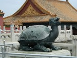 Bronze tortoise, a symbol of longevity
