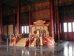 Emporer's Throne in the Hall of Protective Harmony