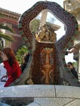Fountain above lizard
