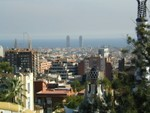 View from upper deck across Barcelona