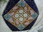 Wall scallop mosaic