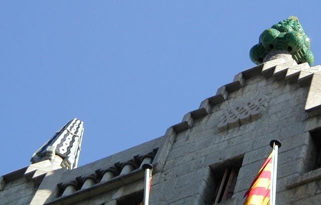 Palau Guell facade top