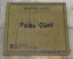 Palau Guell plaque