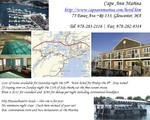 Cape Ann Marina - Great for folks flying in on Saturday! New! $112 rate for Sat. night stay