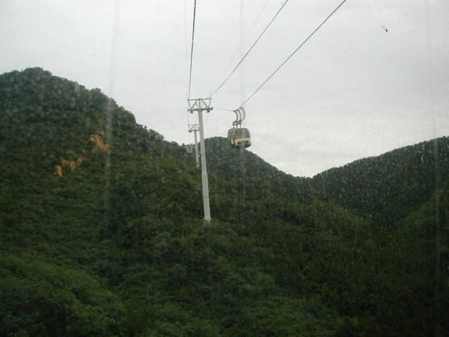View from inside the funicular pod