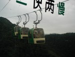 Three cars on the funicular