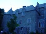 Back of Hammond Castle in blue tone