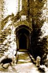 Drawbridge in sepia