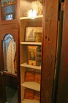 Wardrobe between Early American and Gothic bedrooms