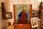 Natalie Hammond designed and produced this stained glass