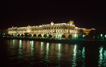 Night view of the Winter Palace from the Palace Bridge