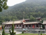 Lishan Mountains behind the Five Room Hall