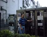 chris in an ntt phone booth